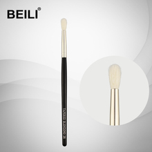 BEILI 1 Piece Goat Hair Small blending Eye shadow Single Makeup Brushes 26 Black handle Silver ferrule