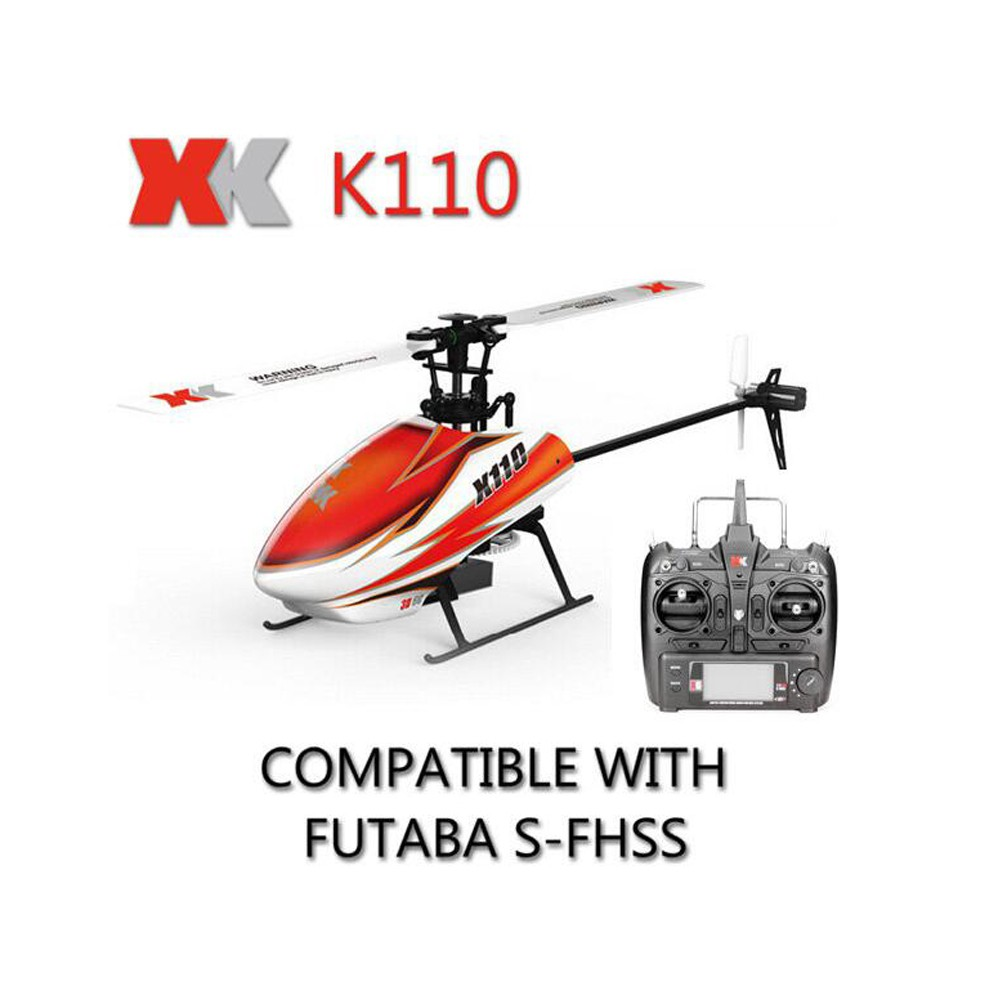 High Quality XK K110 Blash 6CH Brushless 3D6G System RC Helicopter RTF Compatible with FUTABA S-FHSS VS WLtoys V977 Upgrade