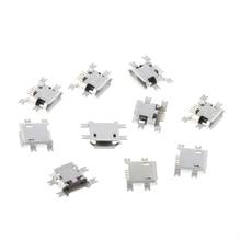 10 шт. Micro Тип USB B 5 Булавки Женский Разъем для Планшеты зарядки телефона