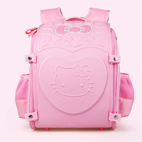 Noble Hello Kitty kids Schoolbag Backpack EVA Folded Orthopedic Backpacks Children School Bags For girls Mochila Infantil Bolsas