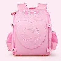 Noble Hello Kitty kids Schoolbag Backpack EVA Folded Orthopedic Backpacks Children School Bags For girls Mochila Infantil Bolsas