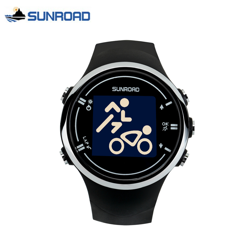 SUNROAD Digital GPS Watch Smart Bluetooth Sport Wristwatch Heart Rate Monitor Calories Counter Pedometer Clock Relogio Masculino gs8 1 3 inch bluetooth smart watch sport wristwatch with gps heart rate monitor pedometer support sim card for ios android phone