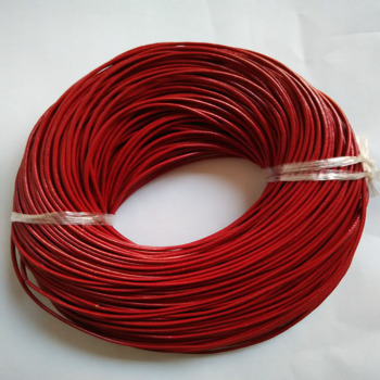 100m red guniune real round leather cord 1.5mm 2mm 3mm can be chosen leather jewelry strings ropes LEC003