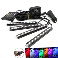 1Set Interior Car LED Neon Lamp For BMW E46 E39 Ford Volkswagen Passat B5 Toyota Renault