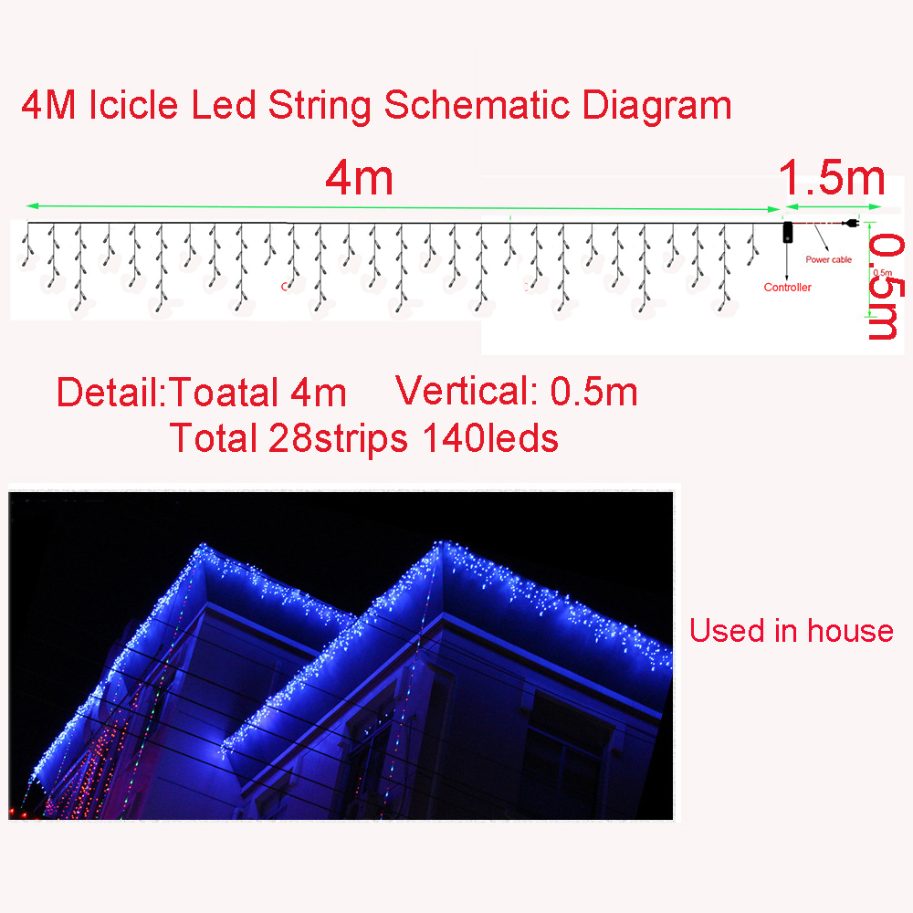 Leds Holiday Lights Ice Bar Led Light String Ac Plug New Year Christmas Garlands Fairy Party Wedding Decorations Da In Led String From Lights