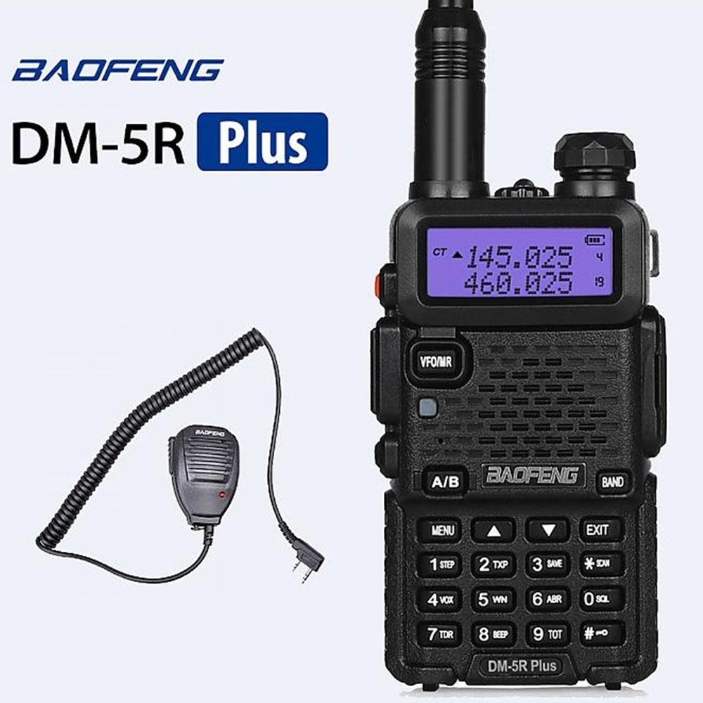 Baofeng DM-5R PLUS Dual Band VHF/UHF DMR Digital Radio Walkie Talkie (NSD)