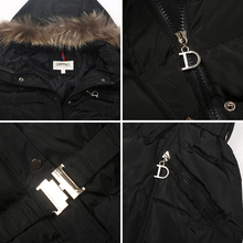 COUTUDI New Arrival Winter Jacket Women Slim Thick Warm Stylish Jacket Coats Lady With Fur Hooded Belt High Quality Down Jackets