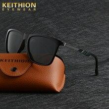 KEITHIN Mens Brand Polarized Sunglasses Mirror Sun Glasses Square Goggle Eyewear Accessories For Men Female UV400