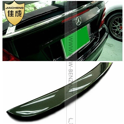 Carbon Fiber AMG Style Rear Wing Spoiler, Trunk Boot Lip spoiler For Benz W203 C-class(FIT 2000-2007) mercedes s class w221 2005 2013 amg style carbon fiber cf spoiler rear trunk wings tail lip for benz s320 s400 s420 s450 s600
