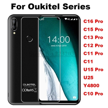Tempered Glass for Oukitel C16 C15 C13 C12 U15 U23 C10 C11 PRO Y4800 2.5D 9H Protective Film Explosion-proof Screen Protector