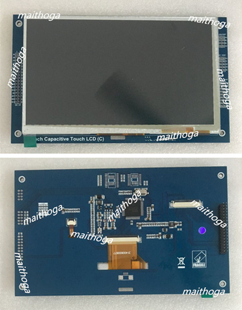 Módulo de toque capacitivo de lcd de 7.0 polegadas spi ra8875 controlador gt911 touch ic 800*480 interface i2c