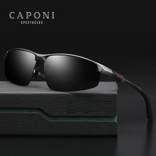 CAPONI Brand Polarized Men's Sunglasses Aluminum Magnesium Sun Glasses Eyewear Accessories For Men oculos de sol masculino 3121 luxury brand aluminum magnesium polarized sunglasses men vintage designer sun glasses for men eyewear male oculos masculino de