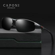 CAPONI Brand Polarized Men's Sunglasses Vintage Aluminum Magnesium Sun Glasses S