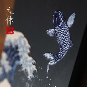 Image 3 - Great Emboss Phone case For samsung galaxy note 9 s9 plus cover Kanagawa Waves Carp Cranes 3D Giant relief case