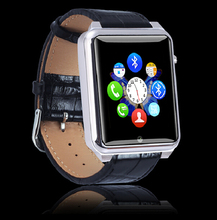 New J68 Bluetooth V3.0 Smart Watch with 2G GSM 2MP Camera Sleep Monitor Pedometer Sedentary Reminder Leather Wrist Smart Watch