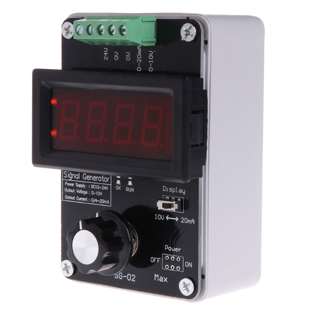 US $14 68 26% OFF Adjustable Current Voltage Analog Simulator 0~20mA Signal  Generator for signal sources/valve adjustment/inverter control/PLC etc-in