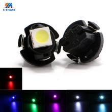 300pcs/lot Multi Colors 12V T5 Leds 5050 1 SMD Led Bulb Car Interior Reading Light Wedge Indicator Lamp 20Lm