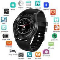 LIGE 2019 nowy inteligentny zegarek mężczyźni kobiety z ekranem dotykowym i modułem bluetooth wodoodporny sport Smartwatch obsługa karty sim Reloj inteligente + Box