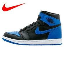 the latest 39c8a 9f5e5 Original Nike Air Jordan 1 OG ROYAL AJ1 Joe Erste Jahr Blau und Schwarz  herren-
