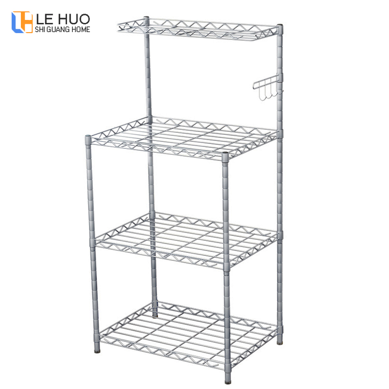 Kitchen Shelf Kitchenware organize Microwave oven storage rack Keep the kitchen clean and tidy Home bookshelf furniture