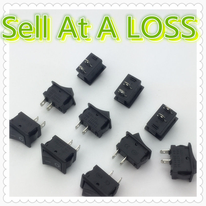 10pcs/lot 15*21mm 2PIN SPST ON/OFF G133 Boat Rocker Switch 6A/250V 10A/125V Car Dash Dashboard Truck RV ATV Home mylb 10pcsx ac 3a 250v 6a 125v on off i o spst 2 pin snap in round boat rocker switch