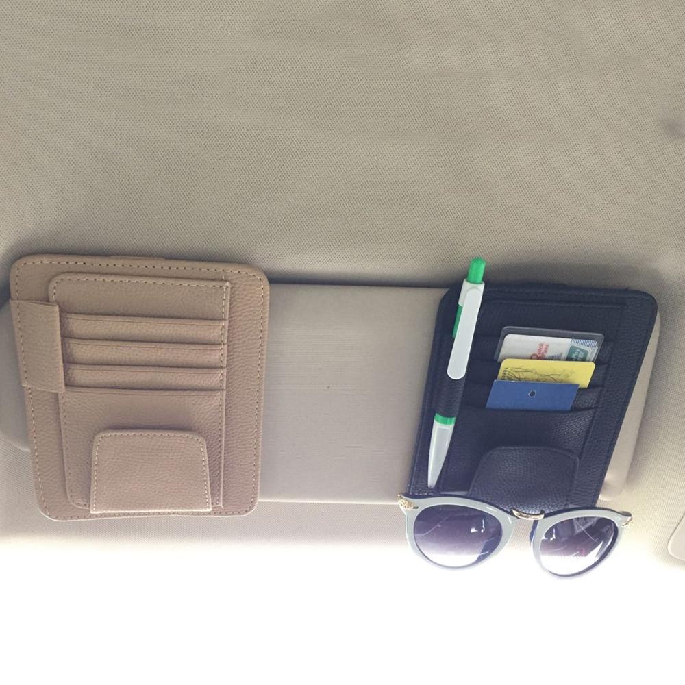 auto car sun visor organizer pouch bag card storage glasses holder multi purpose storage bag car. Black Bedroom Furniture Sets. Home Design Ideas