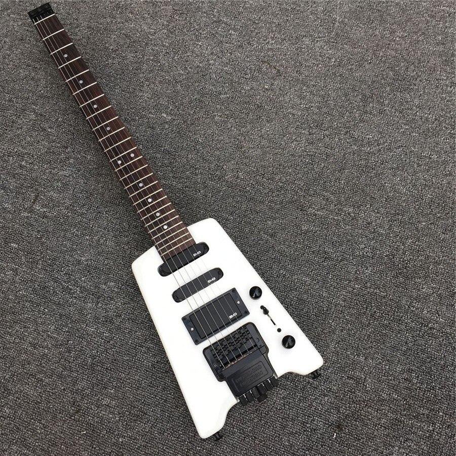 NOUVEAU Voyage nouveau blanc sans tête guitare électrique, guitare électrique, usine en gros, toutes les couleurs peuvent être