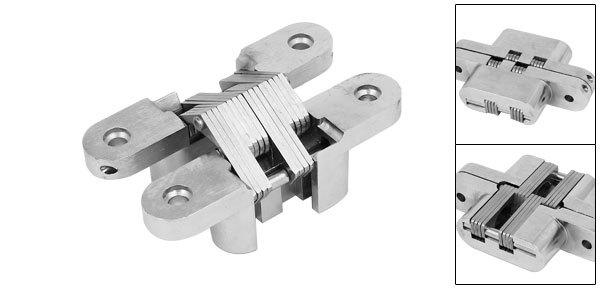 Gabinete Armario Puerta Corredera Plegable Cruz Oculta Bisagra Silver Tone 118mm de Largo
