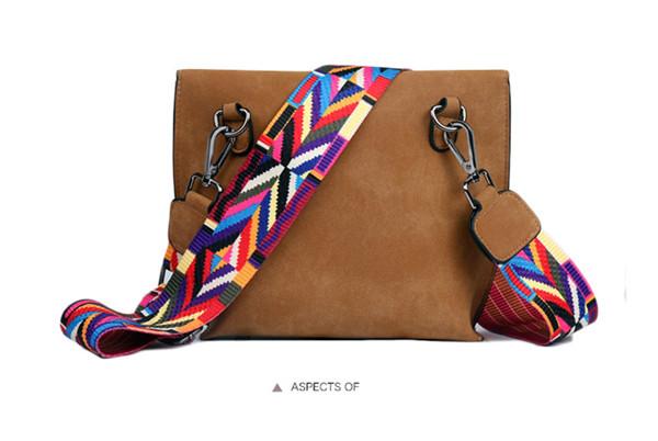 EXCELSIOR Women's Bag Scrub PU Crossbody Bags Luxury Handbags Women Bags Designer bolso mujer Colorful Strap sac a main femme 9