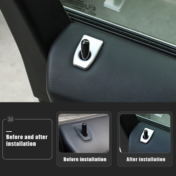 3D Chrome Headlight Switch Trim Cover Car Accessories Interior Decorations For BMW New X5 X6 2014-2018 image