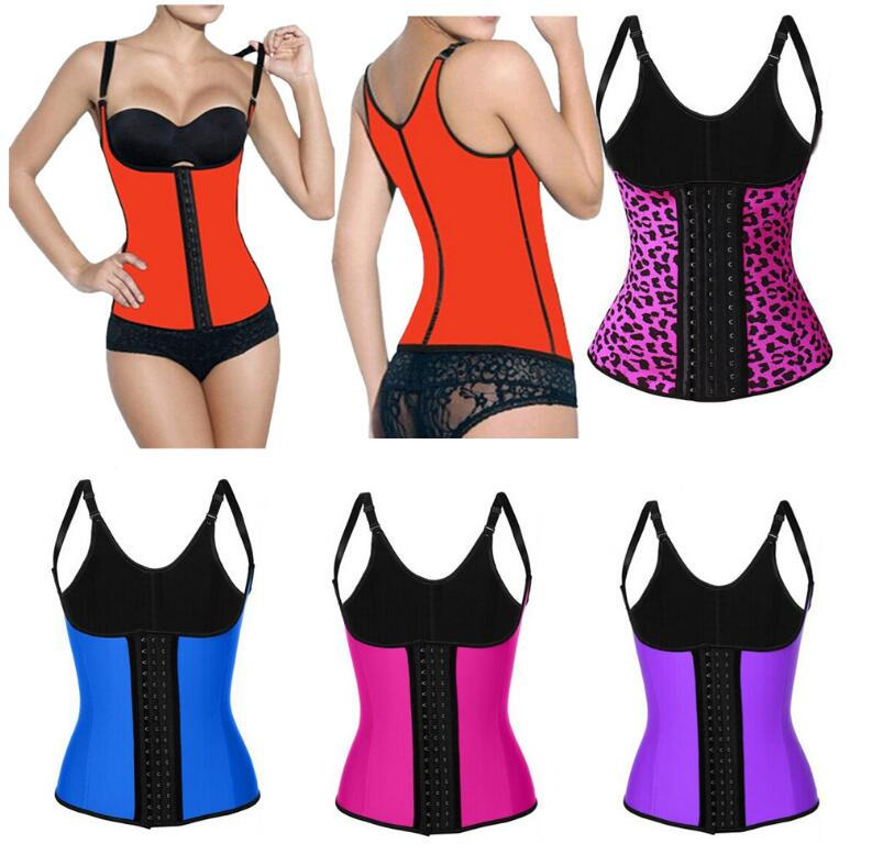 Wholesale Women Body Shaper Bustiers Corsets Latex Rubber Waist Trainer Cincher Underbust Corselet Shapewear Top Slimming Harnes