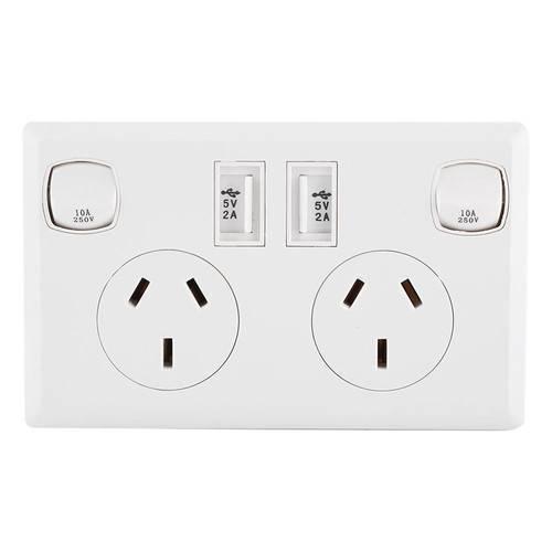 Đôi USB 2 Công Tắc Điện Ổ điện Úc ÂU Cắm Điện Gia Đình Điểm Cung Cấp Đĩa Nhà Cải Tiến Dụng Cụ