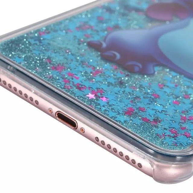 Cartoon Cases for iphone 7 7plus 5 5s 6 6s plus mickey Minnie Stitch Simpsons Princess Mermaid Liquid Quicksand phone Cover