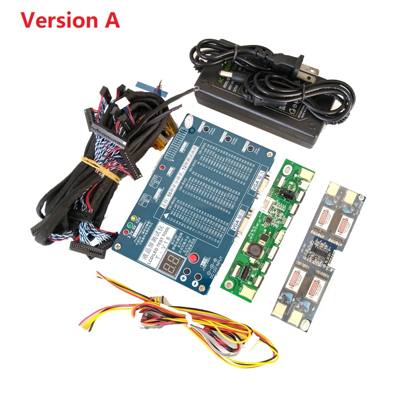 Ordinateur portable TV/LCD/LED Outil de Test kit LED testeur de panneau de Soutien 7-84 Pouces LVDS interface + 14 Écran LVDS câble + haute-pression conseil
