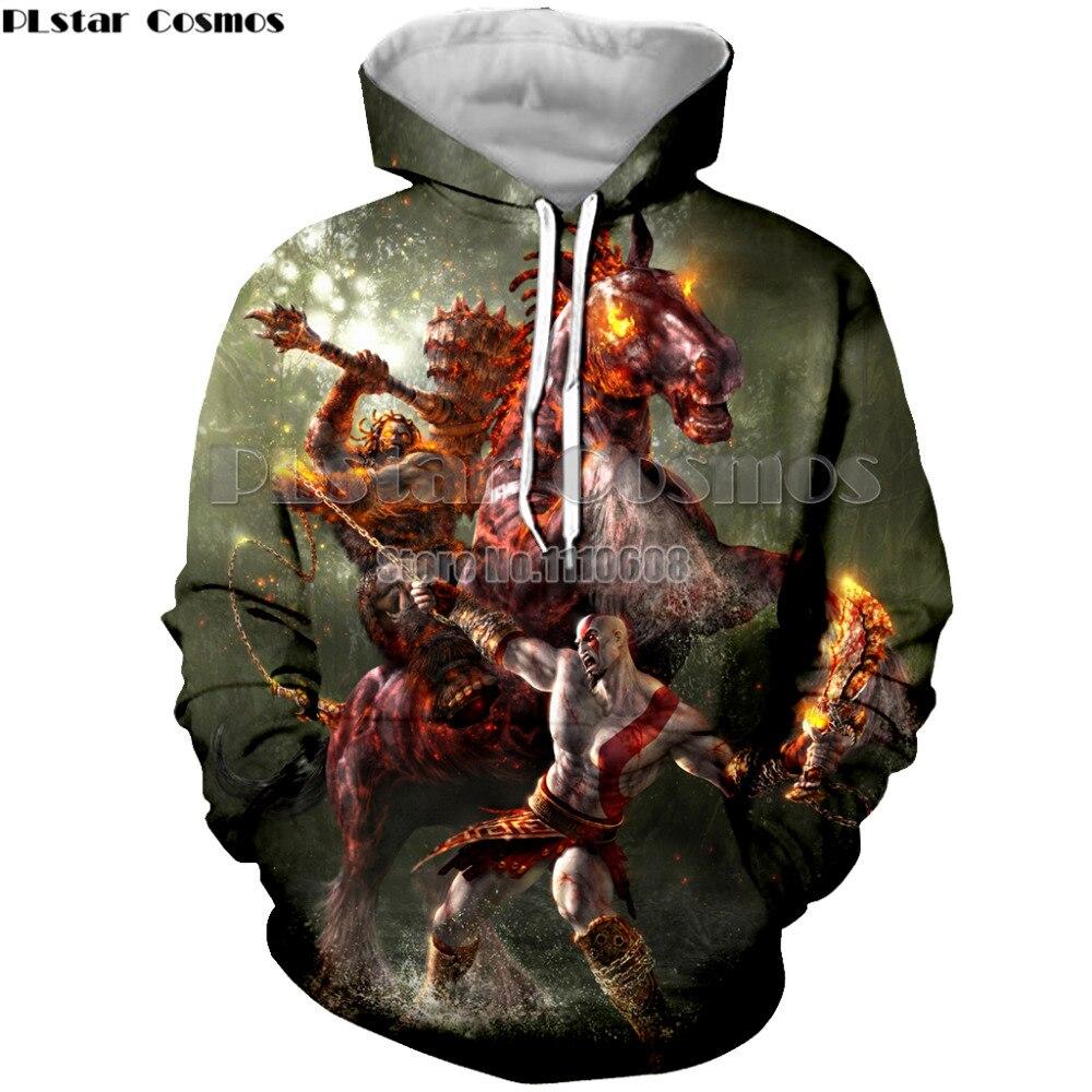 PLstar Cosmos  game God of war fashion hooded men women hoodies 3D printing unisex hoodies top brand clothing