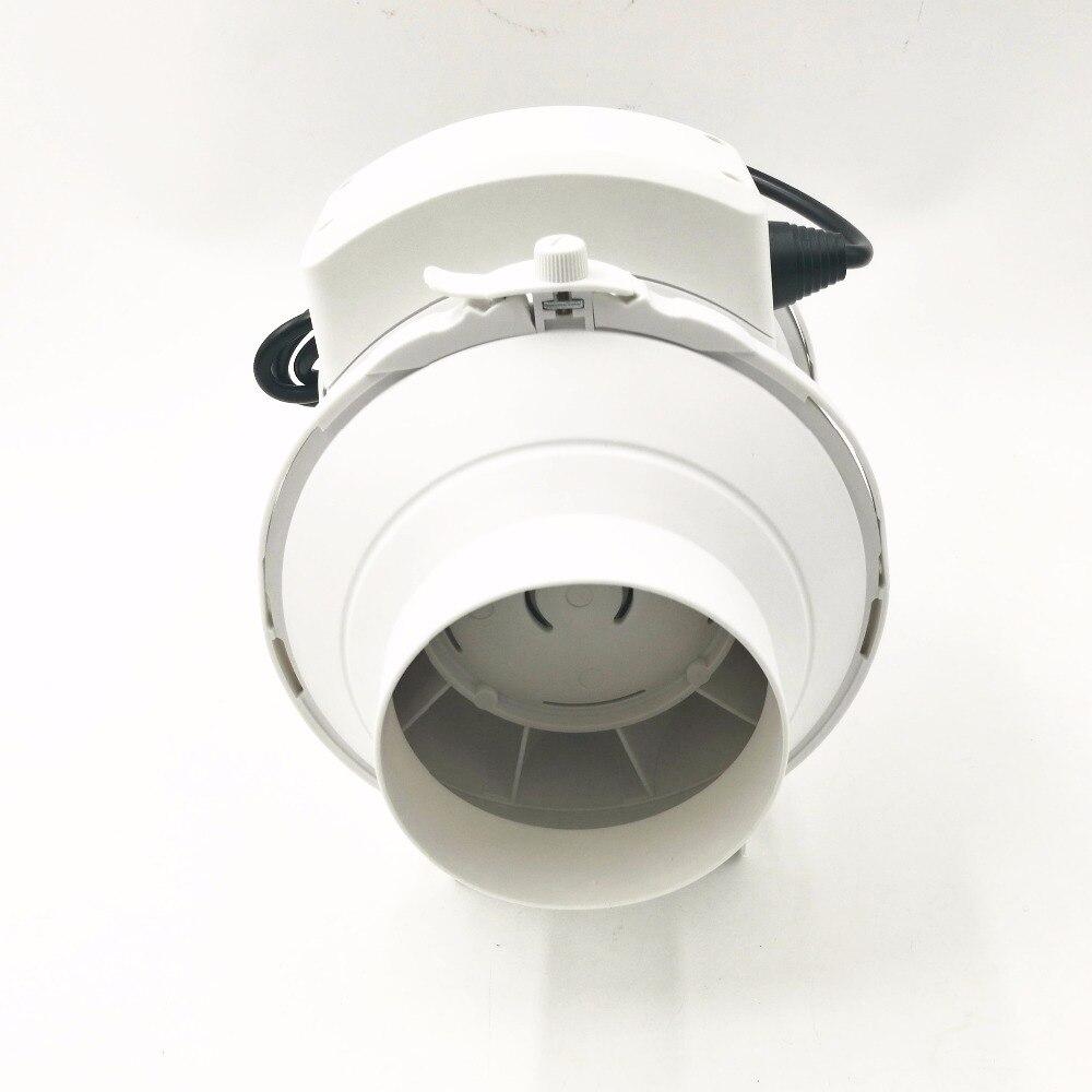 Oblique Flow Increase Pressure Pipe Fan 100MM Mute Bathroom Kitchen Exhaust Fan Exhaust Fan 4