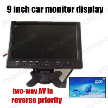9 inch TFT Color LCD  Car Monitor With 2-channel video input For DVD VCD Reversing Camera high quality