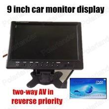 9 zoll Tft LCD Auto Monitor Mit 2-kanal video-eingang Für DVD VCD Rückfahrkamera hohe qualität