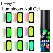 Ellwings Fluorescent Neon Luminous Uv Nail Gel Soak Off Gel Glow In Dark Gel Varnish Lighting In Night Gel Nail Polish