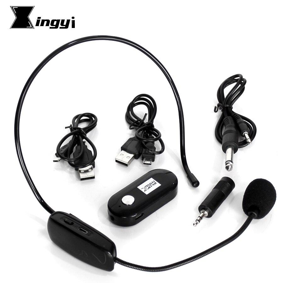 Mini Professionnel Sans Fil Serre-Tête Microphone Casque Mic Mike Avec 6.5mm 3.5mm Jack Récepteur Pour PC Mégaphone Amplificateur de Voix