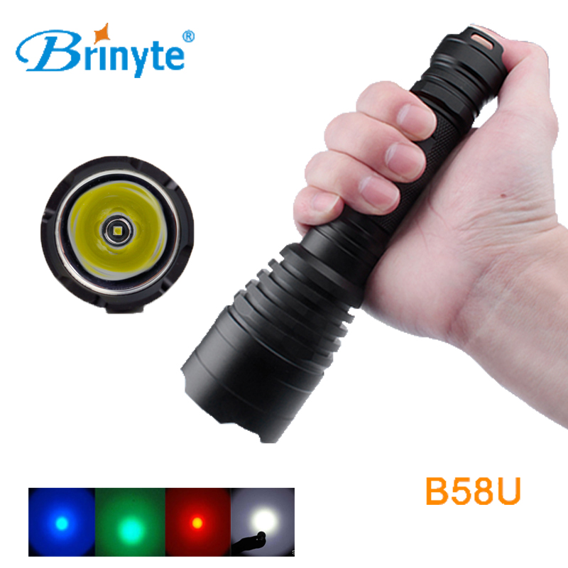 Brinyte B58U Best Flashlight for Hunting Waterproof Long Beam Cree XM L2 Flashlight LED Riflescopes Hunting Flashlight Torch 3800 lumens cree xm l t6 5 modes led tactical flashlight torch waterproof lamp torch hunting flash light lantern for camping z93