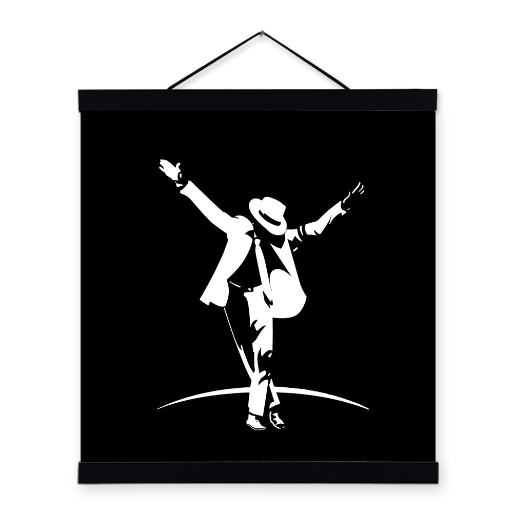 Michael jackson modern abstract black white poster prints for Black and white celebrity prints