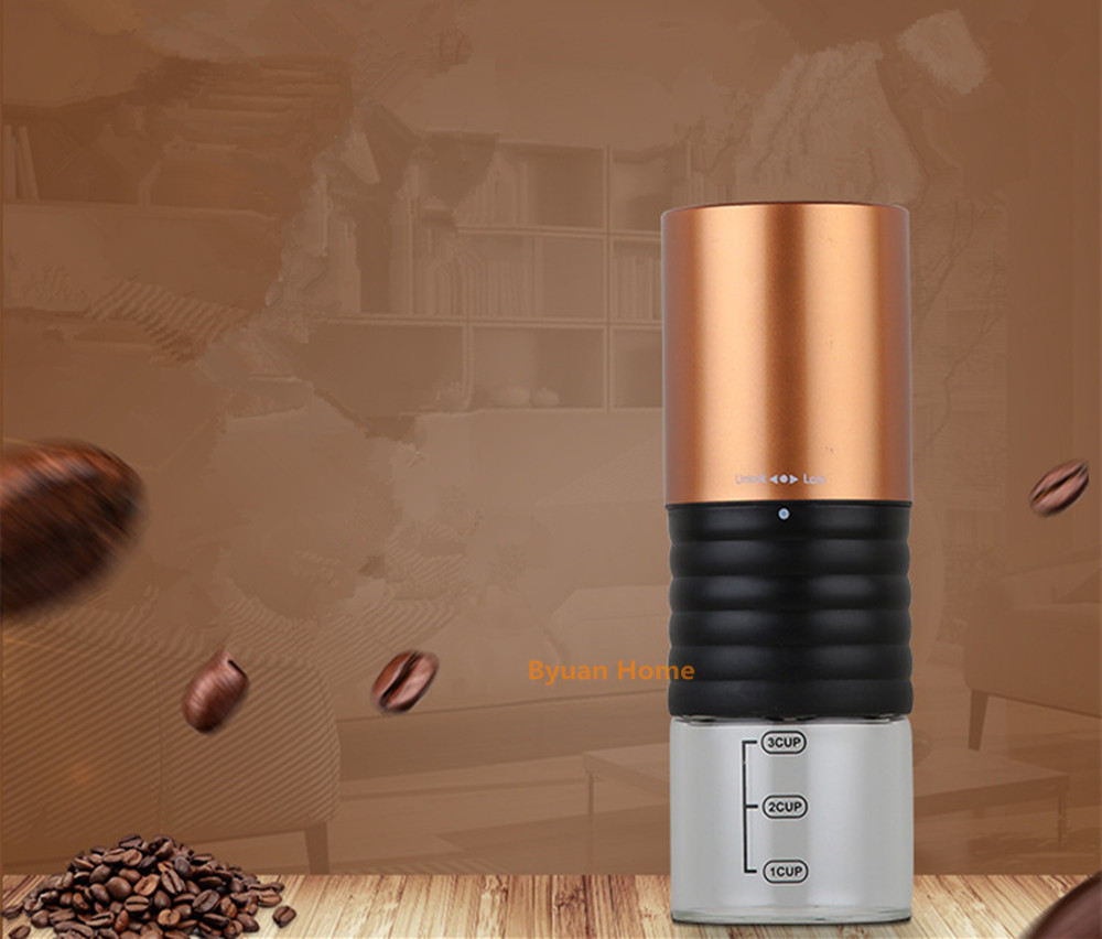 1 pc YHFA15 Nes usb charge coffee grinder with steel grinder core coffee mill