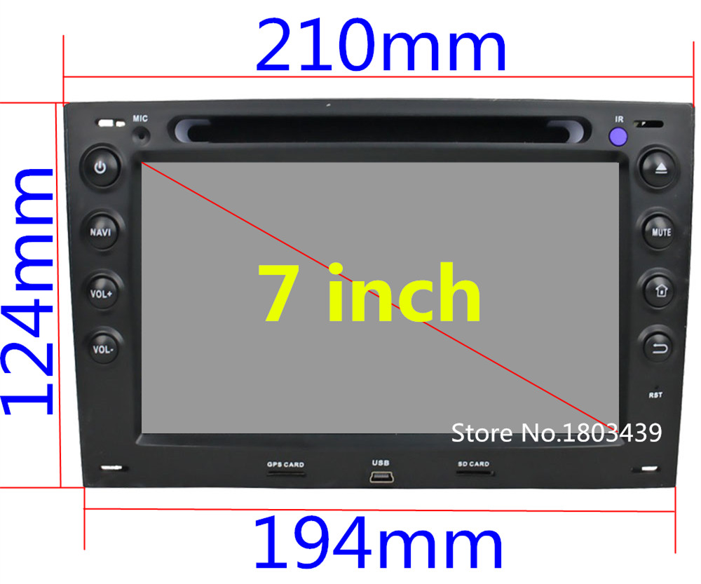 4G Android 6.0 32GB ROM Octa Core WIFI 2GB RAM Car DVD Radio Player For Renault Megane 2 2003 2004 2005 2006 2007 2008 2009 2010
