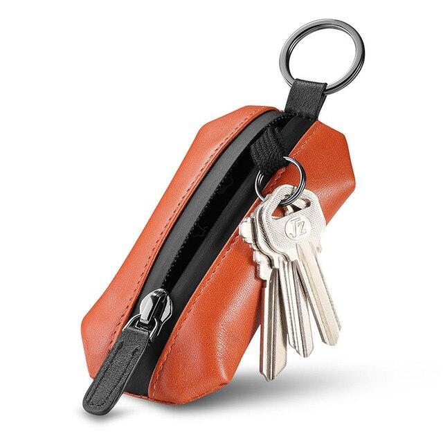 NewBring Genuine Leather Key Wallet Holder Scratchproof Shoe Strap Housekeeper DIY Smart Key Organizer