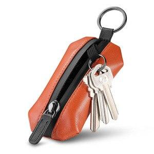 Image 1 - NewBring אמיתי עור מפתח ארנק מחזיק Scratchproof נעל רצועת סוכנת בית DIY חכם מפתח ארגונית