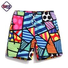 QIKERBONG Board shorts men beachwear mens swimwear boardshorts geometry   trunks shorts joggers  bathing