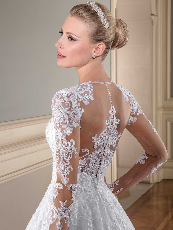 wuzhiyi Vestido de Noiva Casamento A line wedding dress high quality trouwjurk Beading China Bridal dresses
