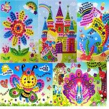 Handmade 3D Children Puzzle DIY Foam Mosaic Stickers Art EVA Cartoon Crystal 3D Sticker Creative Educational