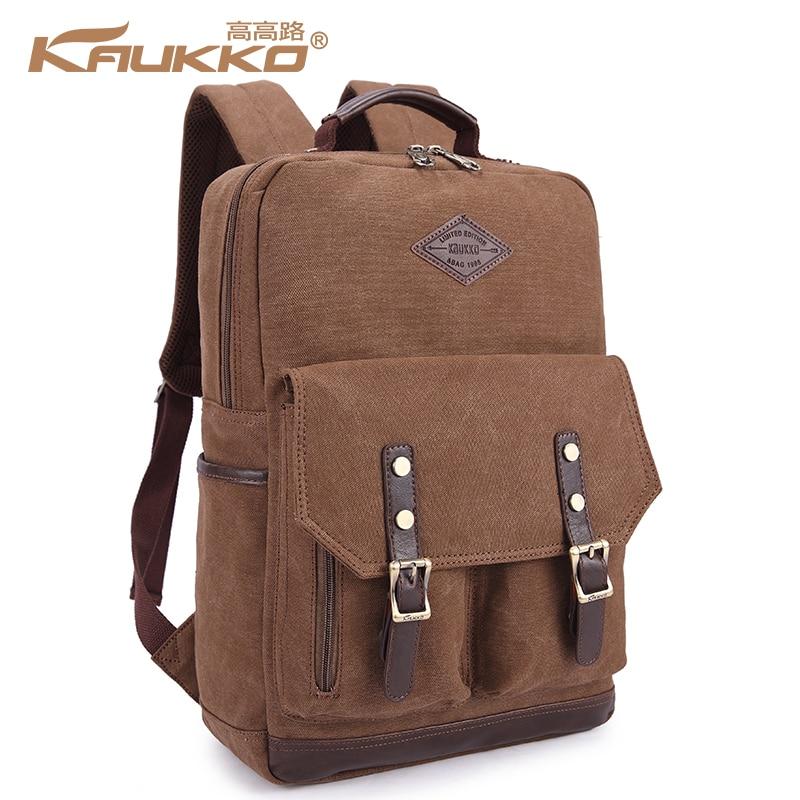 KAUKKO Vintage School Backpacks for College Student Teenager Bags Multi-Color Leisure Travel Bag Unisex Retro Knapsack kaukko fp84